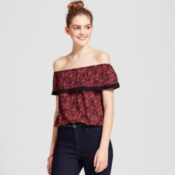 454c998f249 Mossimo Supply Co. Tops | Target Mossimo Off Shoulder Floral Top ...